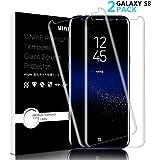 Vetro Temperato Galaxy S8, [2-Pack]Pellicola Protettiva Vinpie in Vetro Temperato Screen Protector Film Ultra Resistente (0,26mm HD Alta trasparente) per Samsung Galaxy S8 (Galaxy S8)