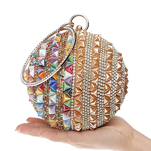 Clutches Day Candy Lady Evening gold Fashion Summer Colorful Rivet Purse Bags KYS Women vxTwgq6U