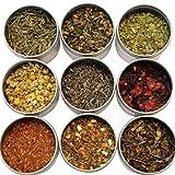 Heavenly Tea Leaves Assorted Tea Sampler, 9 Assorted Loose Leaf Teas & Tisanes