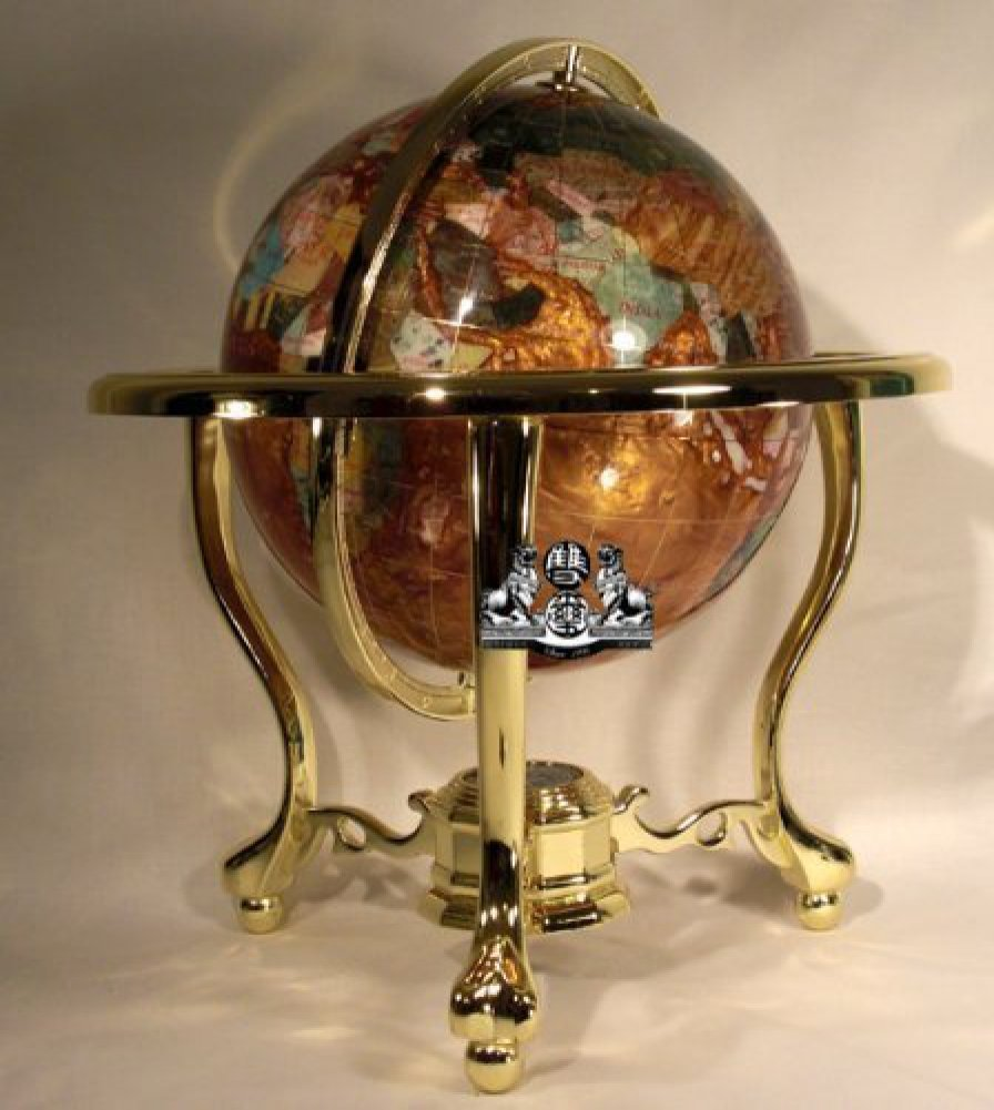 Amazon 14 tall amber pearl gold stand gem gemstone world map amazon 14 tall amber pearl gold stand gem gemstone world map globe globes maps home kitchen gumiabroncs Image collections