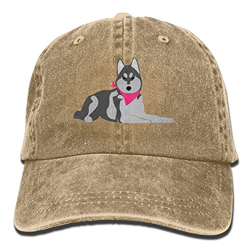 Alive Husky (Osmantus Men's Adjustable Husky Dog Baseball Cap Dad Hat Natural)
