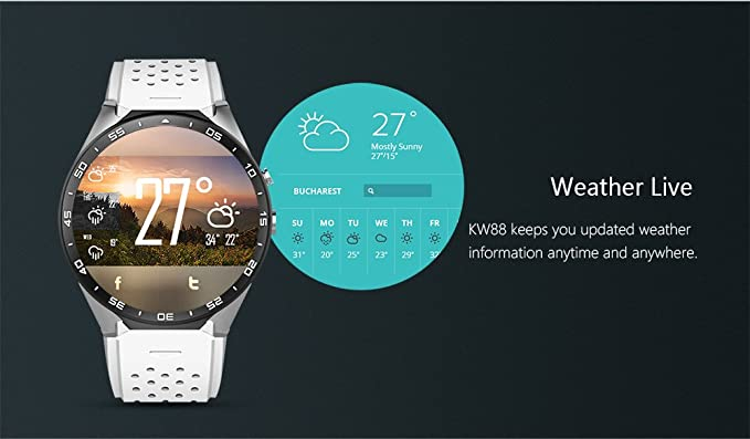 Amazon.com : layal KW88 android 5.1 OS Smart watch ...