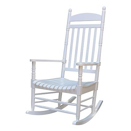 International Concepts R 93015 Porch Rocker, Solid Wood White