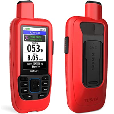 TUSITA Case for Garmin GPSMAP 86i 86sci - Silicone Protective Cover - Handheld GPS Accessories (Red): MP3 Players & Accessories