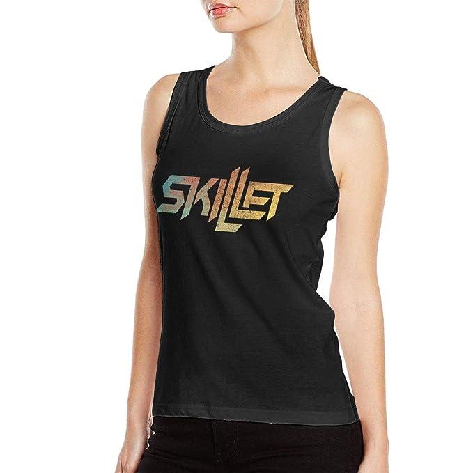 Amazon.com: Skillet Band - Tops de algodón para mujer, para ...