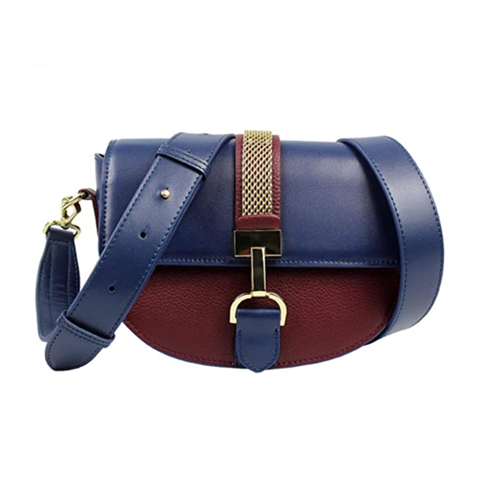 Amazon.com: Womens fashion semi-circular leather handbag ...
