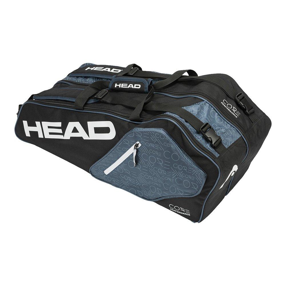 HEAD Core 6R Combi Tennis Bag, Black/Grey