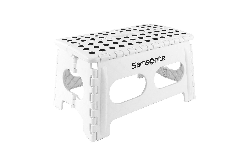 Vanderbilt Home S2126 Samsonite Heavy Duty Step Folding stools 9 Extra Wide White