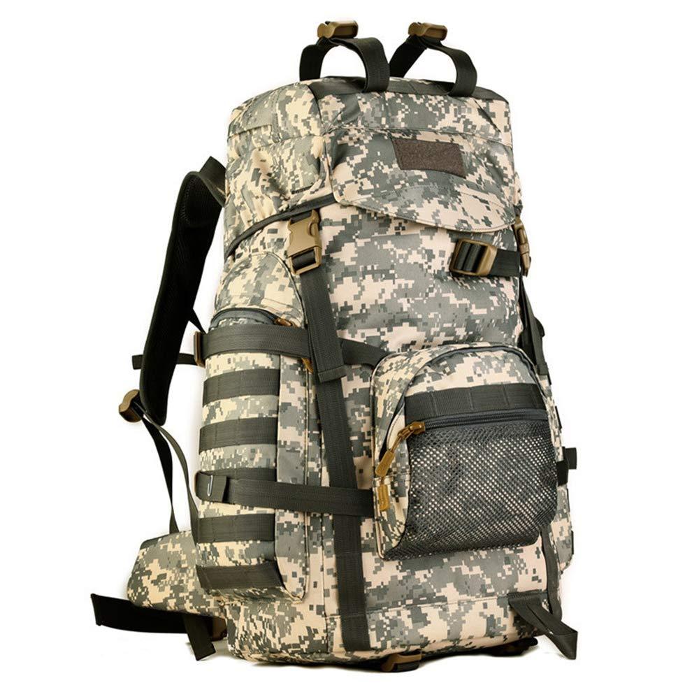 CamouflageB Hiking backpack MultiFunctional Nylon Large Capacity Waterproof Unisex 60 L (Black)