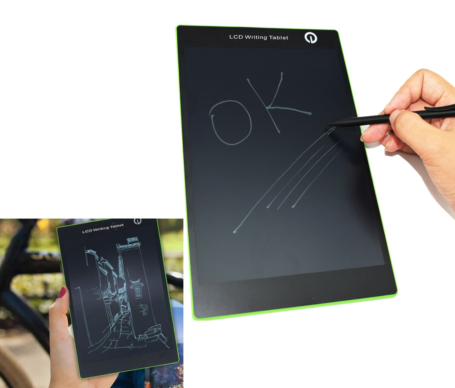 9.7'' LCD Writing Tablet, Best Paperless Digital Writing Drawing Tool for Adults, Kids And Children at Home, School or Work Office Easy Magic Eraser Easy to use for All Ages
