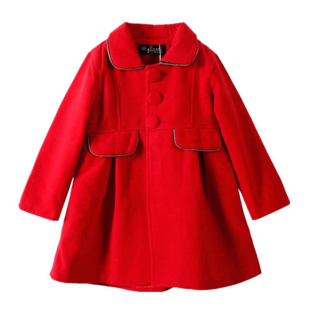 LittleSpring Little Girls' Dress Coat SLZS0454