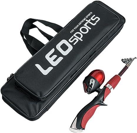 Angelruten-Reisetasche 3 Taschen 1,5 m für geschminkte Ruten und Rollen Grün NEU