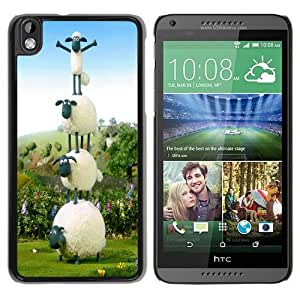 Fashionable And Unique Designed Case For HTC Desire 816 Phone Case With Shaun the Sheep Wallpaper Black