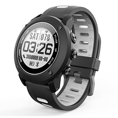 OOLIFENG GPS Deporte Reloj Inteligente, Fitness Tracker Con Altímetro Barómetro Brújula Pulsómetros IP68 Impermeable Digital