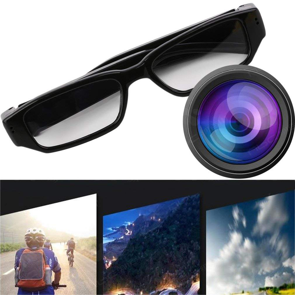 Mini 720P HD Camera Glasses Eyewear DVR Video Recorder Cam Camcorder(Color:Black) FairytaleMM