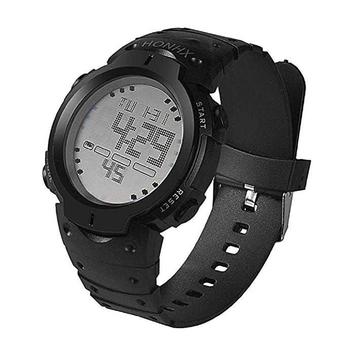 WSSVAN Reloj deportivo, reloj multifuncional LED electrónico de moda para hombres reloj digital LCD fecha caucho resistente al agua reloj luminoso ...
