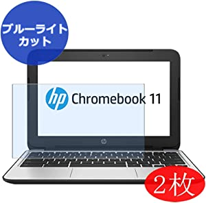 """【2 Pack】 Synvy Anti Blue Light Screen Protector for HP Chromebook 11 G4 11.6"""" Screen Film Protective Protectors [Not Tempered Glass]"""