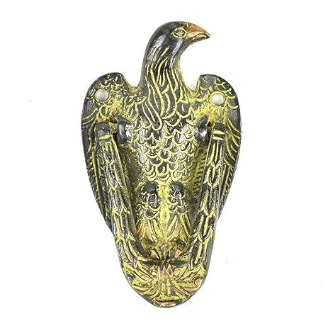 Handmade Vintage Multicolor Brass Eagle Door Knocker With Patina Finish  Antique Look Decorative Designer IndianShelf