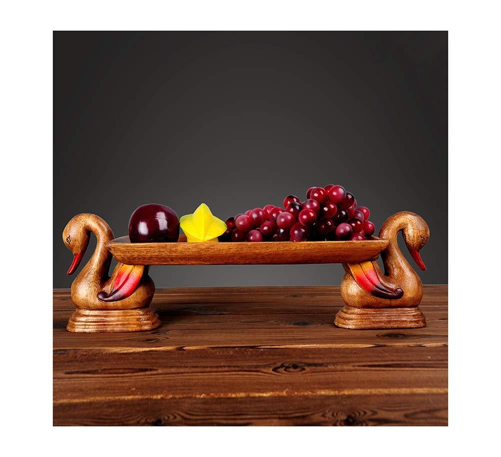 PANGU-ZC フルーツバスクダックフルーツプレートキャンディフルーツディッシュヴィンテージフルーツトレイ手彫りコポート   B07N61224M