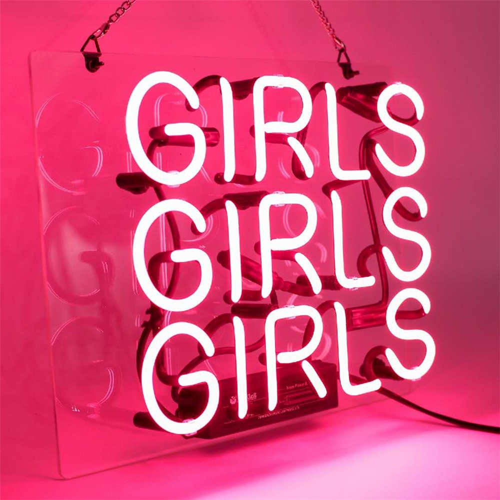 Neon Lights Signs, Girls Decor of Beer Bar Bedroom LivingRoom GameRoom Showcase Real Glass Pure Hand Curved 11.5x9.5 inches by CAICAIDUO (Image #2)