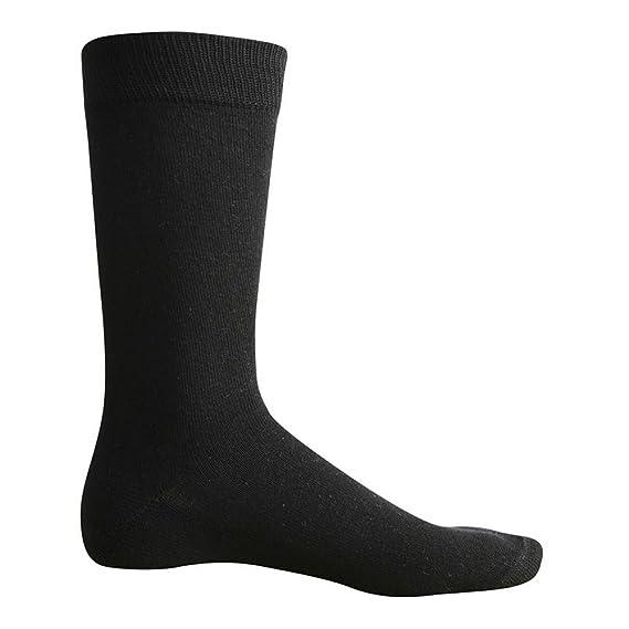 ID Calcetines clásicos estilo ejecutivo para hombre (40/46 EU/Negro)