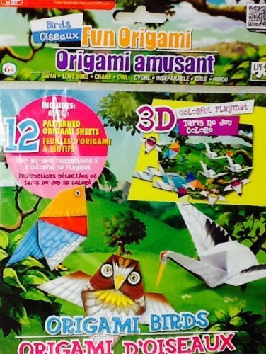 Fun Origami Set ~ Birds with 3D Colorful Playmat (Fold Origami Bird)