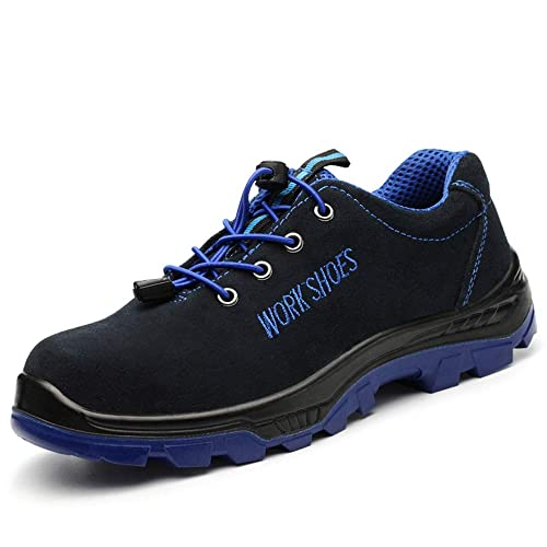 MENS SAFETY BOOTS TRAINERS SUEDE SHOES WORK STEEL TOE CAP HIKER UK SIZE  7-11