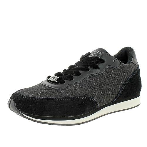 Guess - Zapatillas de Deporte de Lona Mujer: Amazon.es: Zapatos y complementos