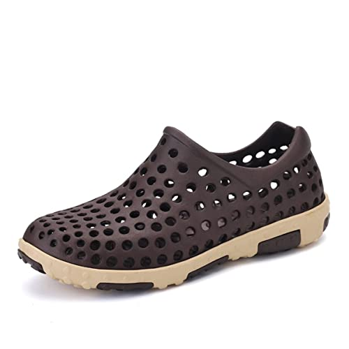 Beach Clog ShoesMen's Lightweight Hollow Out Breathable Sandals Slip On Hiking Water Slippers