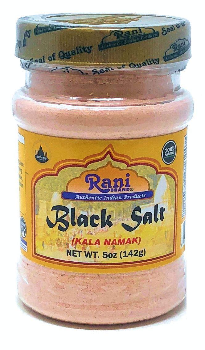 Rani Black Salt (Kala Namak) Powder, Vegan 5oz (142g) Unrefined, Pure and Natural | Gluten Free Ingredients | NON-GMO | Indian Origin : Grocery & Gourmet Food