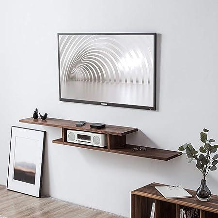 XINGPING-Shelf Conjunto de Sala de Estar Estante para Cama Dormitorio Nogal Negro Mueble para TV Estante de Pared de eucalipto Estante de Madera Maciza (Color : Black Walnut/120CM): Amazon.es: Hogar