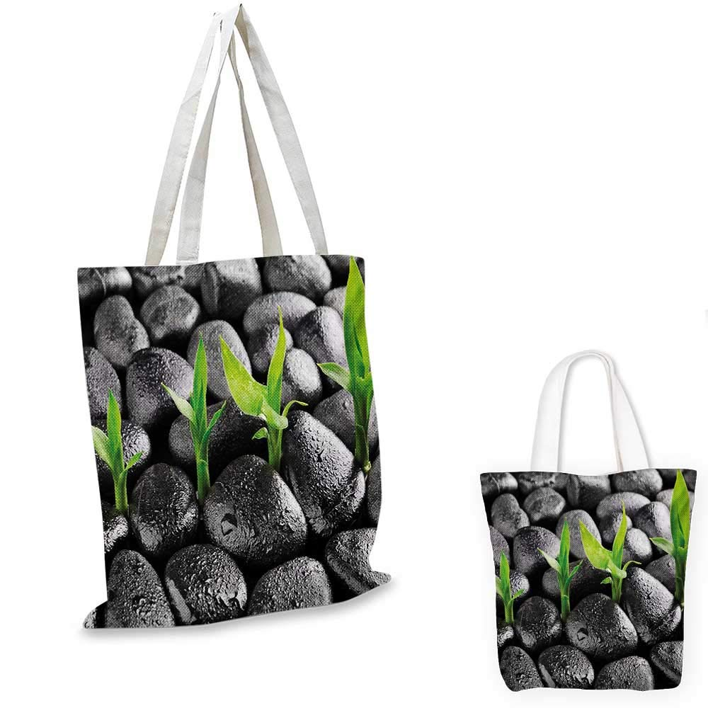 16x18-13 Plant canvas messenger bag Bird of Paradise Palm Leaf and Assorted Exotic Flowers Watercolor canvas beach bag Coral Earth Yellow Fern Green