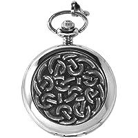 English Pewter Company reloj de bolsillo con patrón