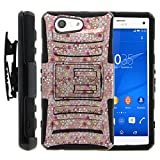 Sony Xperia Z3 Compact Case | D5803 [Hyper Shock] Dual Layer Silicone Hybrid Rugged Belt Clip Holster Impact Kickstand Case Cool Design by TurtleArmor - Field of Flowers