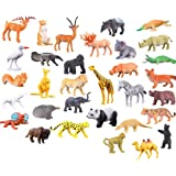 SUPER TOY Wild Jungle Animal Toys Figure Playing Set for Kids (Pack of 20)