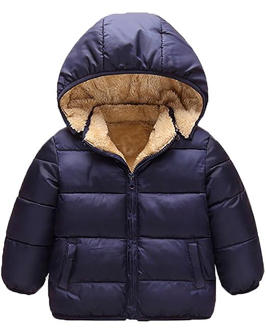 MISSMAO Abrigo de Plumas Chaquetas Traje de Nieve Parka para Bebés Chico Chaquetas Invierno para Niñas Niños