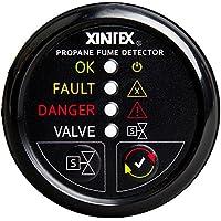 Fireboy-Xintex Xintex Propane Fume Detector w/Automatic Shut-Off & Plastic Sensor - No Solenoid Valve - Black Bezel Display