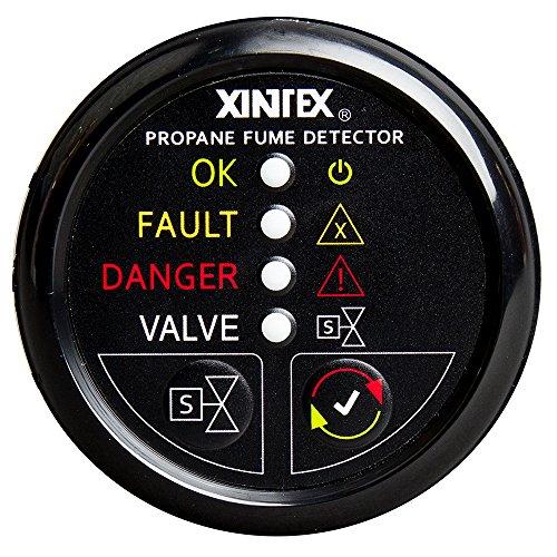 - Fireboy-Xintex Xintex Propane Fume Detector w/Automatic Shut-Off & Plastic Sensor - No Solenoid Valve - Black Bezel Display