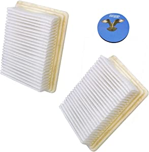 HQRP 2-Pack Washable & Reusable Filters for Hoover H3050 SpinScrub 800 FloorMate Cleaner Upright Plus Coaster