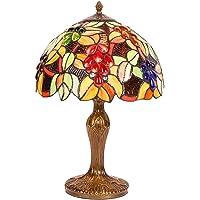 Carl Artbay Abajur de mesa estilo Tiffany, luminária decorativa retrô, pequena, adequada para sala de estar, mesa de…