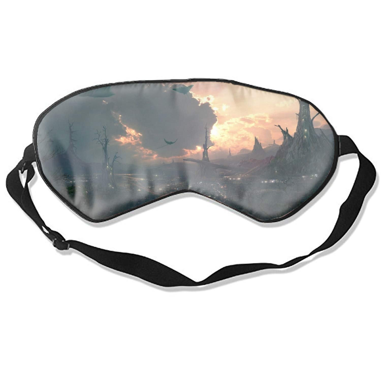 Vickyyoo Comfortable Sleep Eyes Masks Fantasy City Animal Cloud Sleeping Mask for Travelling, Night Noon Nap, Mediation Or Yoga
