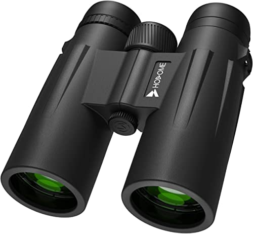 Hosome 12×42 Powerful Binoculars,Compact Binoculars for Bird Watching Travel Sightseeing Hunting Sports with Low Light Night Vision, Large Eyepiece Binoculars for Adults with Clear BAK4 FMC Lens