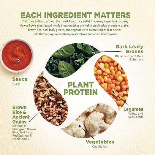 Healthy Choice Power Bowls Cauliflower Curry 99 Ounce Amazon