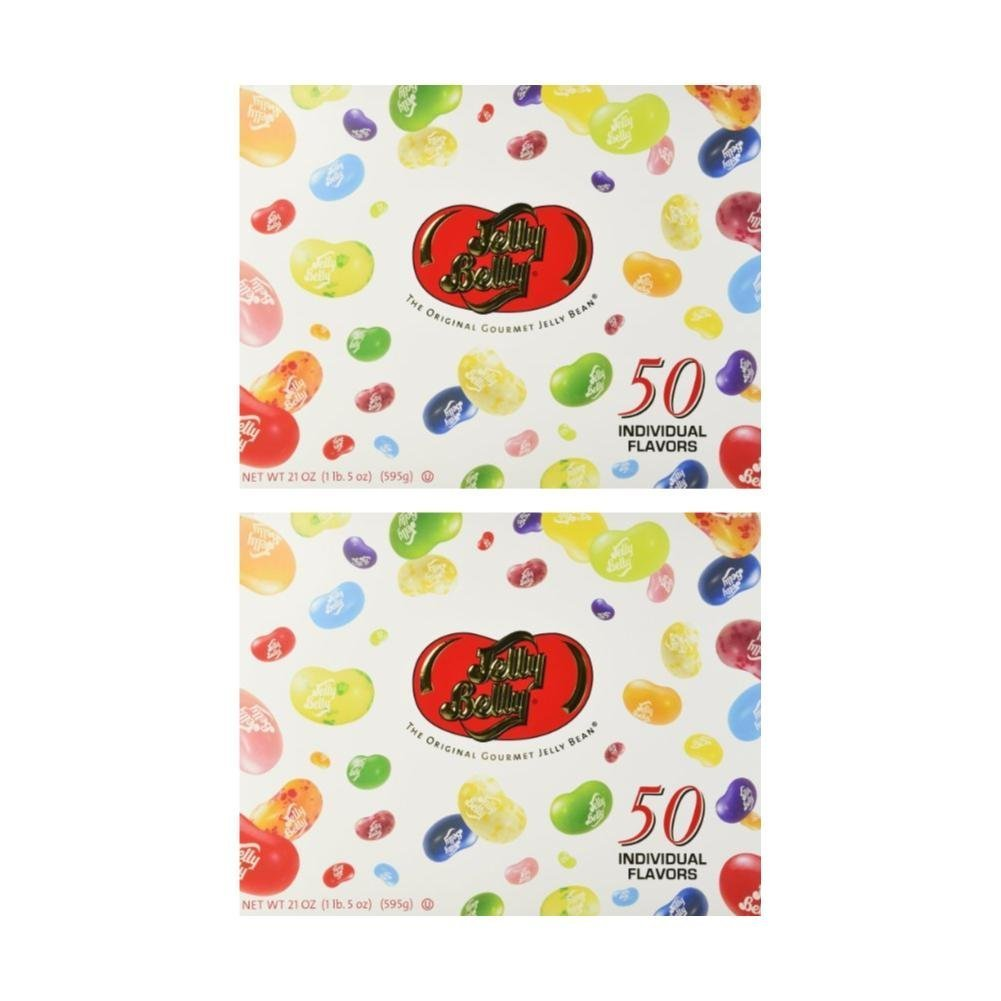 Jelly Belly 50-Flavor Sampler Gift Box net 21oz (Pack of 2) by Jelly Belly