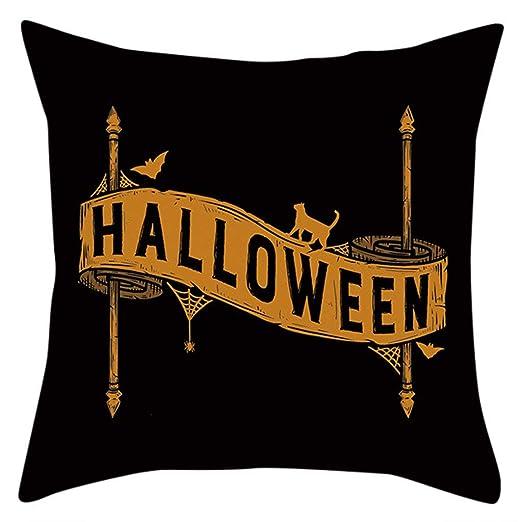 Funda de Almohada de Calabaza Halloween Funda de cojín de ...