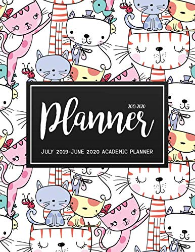 July 2019-June 2020 Academic Planner: Two Year - Daily Weekly Monthly Calendar Planner For To do list Planners And Academic Schedule Agenda Logbook & ...   Cat Happy Design (2019-2020 planner)