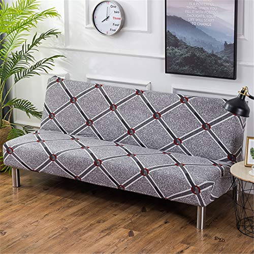(Ranferuyk 160-220Cm Elastic Printed Sofa Bed Covers Without Armrest Tight Wrap Couch Cover Stretch Funiture Flexible Slipcovers Sofa Towel K040 L Size 190-220cm)