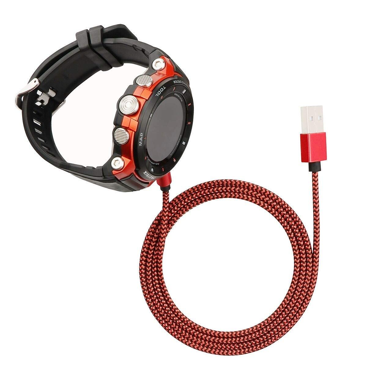 SEMILU Nylon Magnet Charging Cable Compatible with Outdoor Smart Watch WSD-F30,WSD-F20,WSD-F10