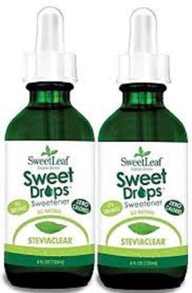 Sweetleaf Stevia Stevia Clear Liquid,4 oz,(Pack of 2)