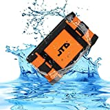 JTD Waterproof Floating Speaker, Armor Portable Bluetooth Speaker (Orange) 5W Strong Drive/Passive Radiator for Rich Immersive Sound, Waterproof Shockproof and Dustproof Outdoor with power supply